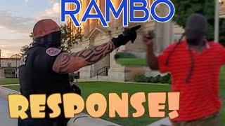 BLUE LINE RAMBO SURPRISES ME! 1ST AMENDMENT AUDIT!