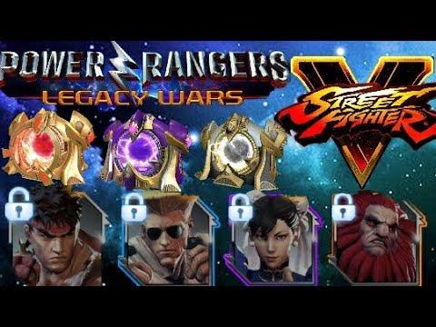 HUGE STREET FIGHTER BOX OPENING ~ Power Rangers Legacy Wars
