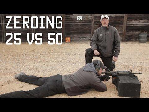 How to Zero your Rifle | 25 meter vs 50 meter | AR Rifle | Tactical Rifleman
