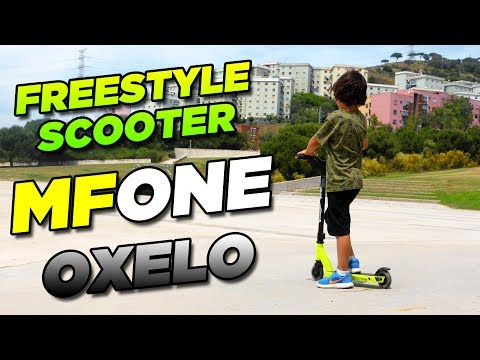 c15575e1f16 MF ONE by Oxelo - Patinete / Scooter FREESTYLE para principiantes - YouTube
