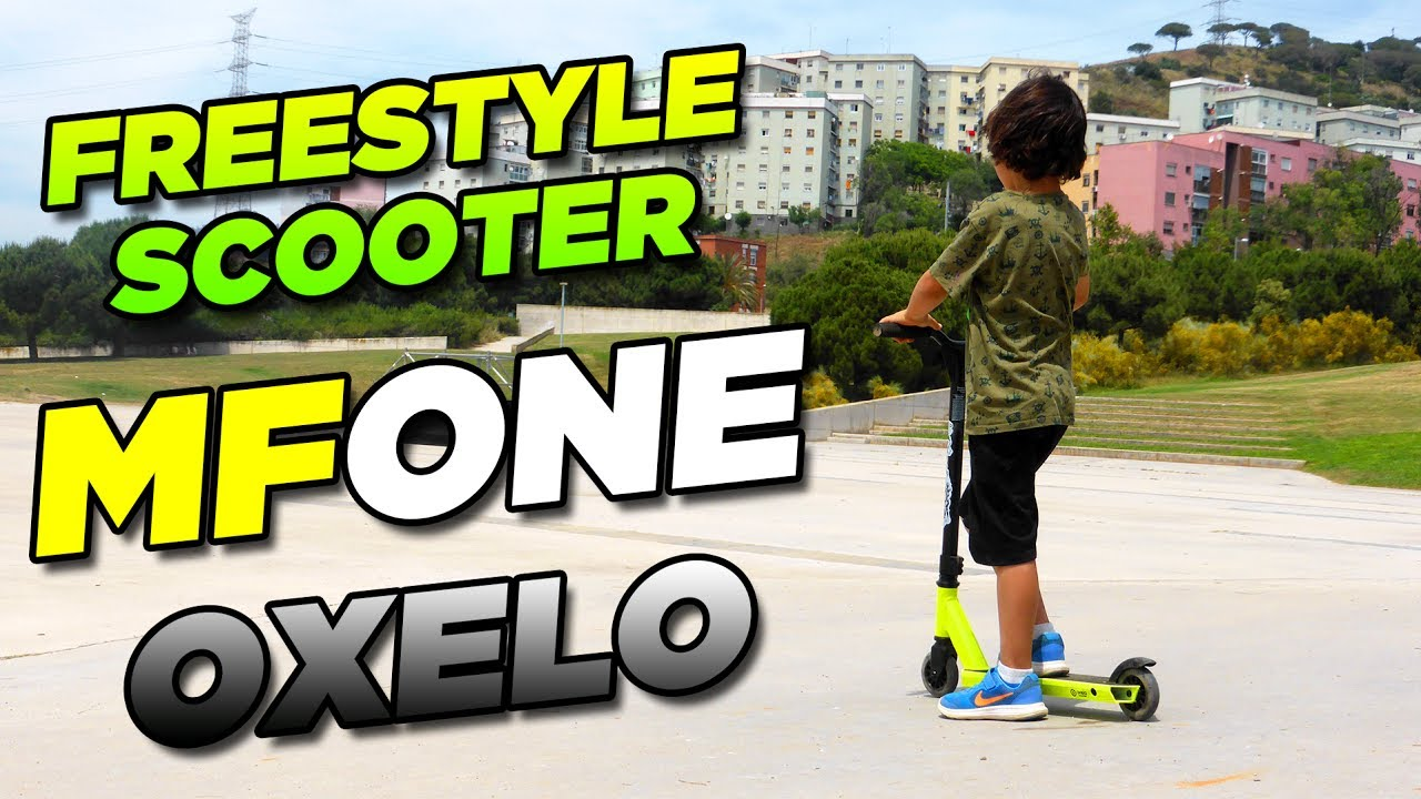 93aa392f3 MF ONE by Oxelo - Patinete   Scooter FREESTYLE para principiantes ...