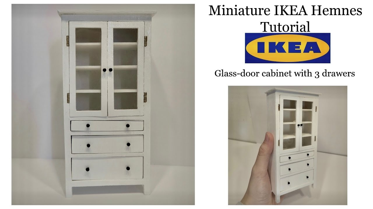 miniature ikea hemnes cabinet tutorial youtube