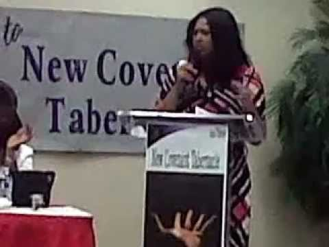 Evangelist Mickie Valentine at Reaching for Perfection: Moving Forward Women's Conference 2013