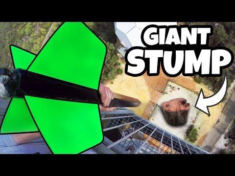 GIANT DART Vs. GIANT TREE STUMP from 45m!