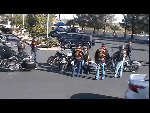 About 30 Motorcycle Riders get ready for the convoy for Petty Officer First Class Johnny Spicer