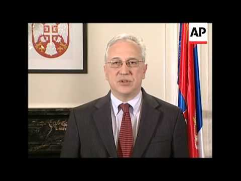 Bush on US recognition, Serbia recalls ambassador to US