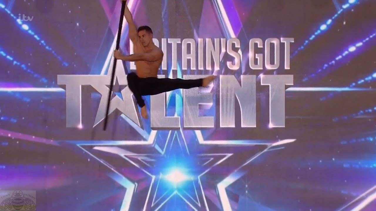 Britain's Got Talent 2016 S10E06 Saulo Sarmiento Aerial Acrobat Pole Dance  Full Audition