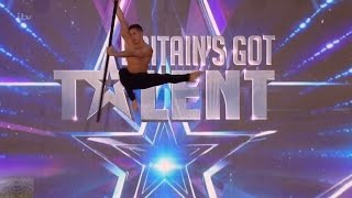 Britain's Got Talent 2016 S10E06 Saulo Sarmiento Aerial Acrobat Pole Dance Full Audition(Description., 2016-05-15T00:46:00.000Z)