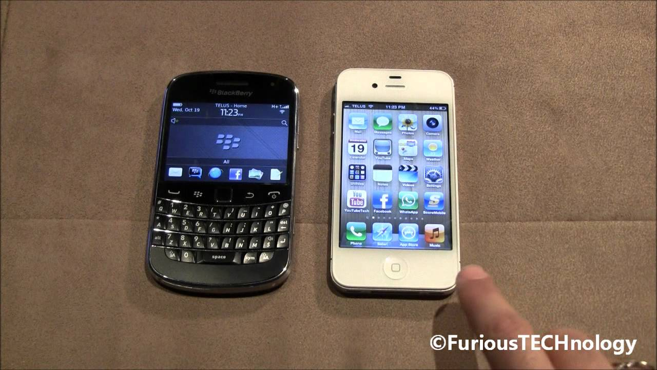 iphone 5 vs blackberry bold 9900 you care