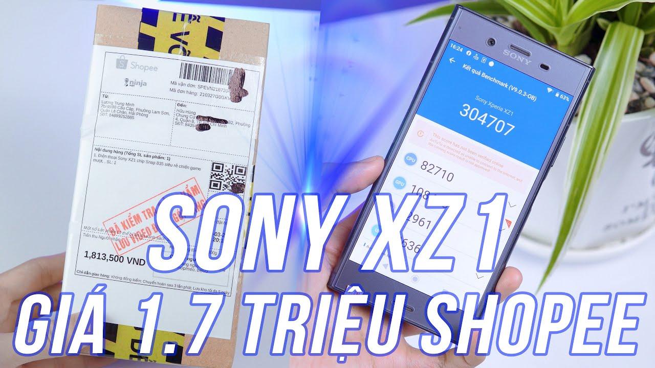 Đập Hộp Sony XZ1 Mua Shopee Giá 1.7 Triệu - Snap835 4G/64G, Antutu 304K, Chơi Game Max Ngon!