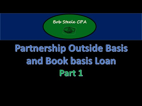 Partnership Outside Basis and Book basis Loan