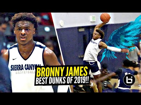 Download Bronny James BEST 9th Grade Dunks! You Wont BELIEVE How Much Bronnys BOUNCE IMPROVED From 2018 to 19