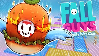 MY FIRST FALL GUYS EPISODE! (Cheeseburger Skin!)
