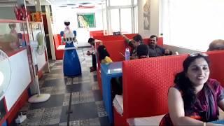 Robot service in Shimoga restaurant   Hotel - Upahara Darshini, Karnataka