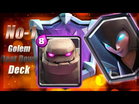 BEST GOLEM DECK | Ladder Pushing With #1 Golem Deck In Clash Royale.