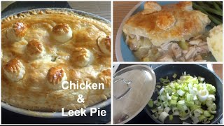 Quick Chicken & Leek Pie!