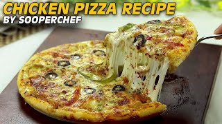 Chicken Pizza Recipe (With Sausages) By SooperChef