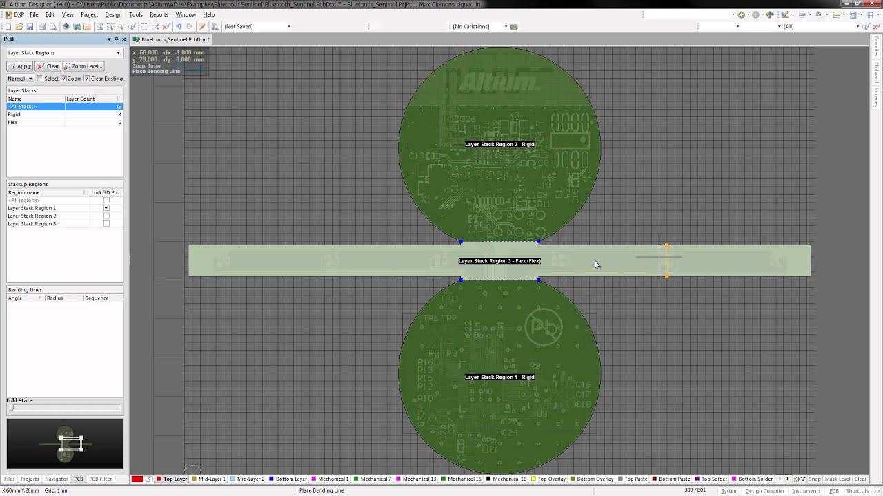Designer Lines : Altium designer 14 bending lines youtube