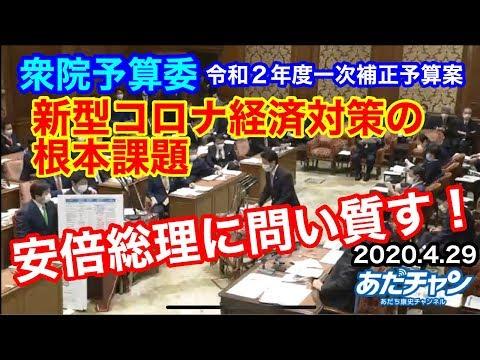令和2年4月29日 新型コロナ経済対策の根本課題 安倍総理に問い質す!