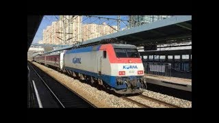 客車列車・貨物列車・KTX【韓国KORAIL】 衿川区庁駅を通過 Korea Train