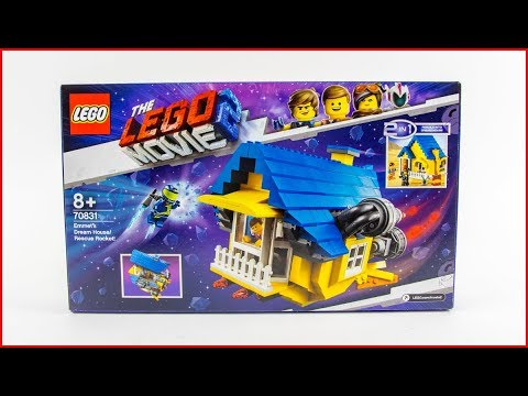 LEGO MOVIE 2 70831 Emmet's Dream House/Rescue  Construction Toy - UNBOXING