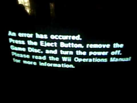 Wii Error screen of death