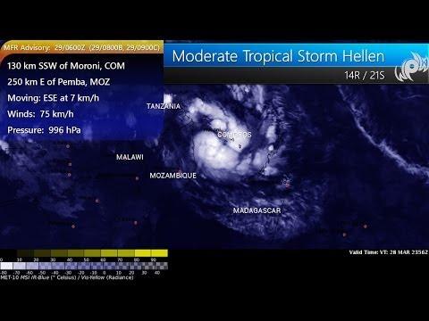 Tropical Storm Hellen spreading heavy showers across Comoros, threatens Madagascar and Mozambique
