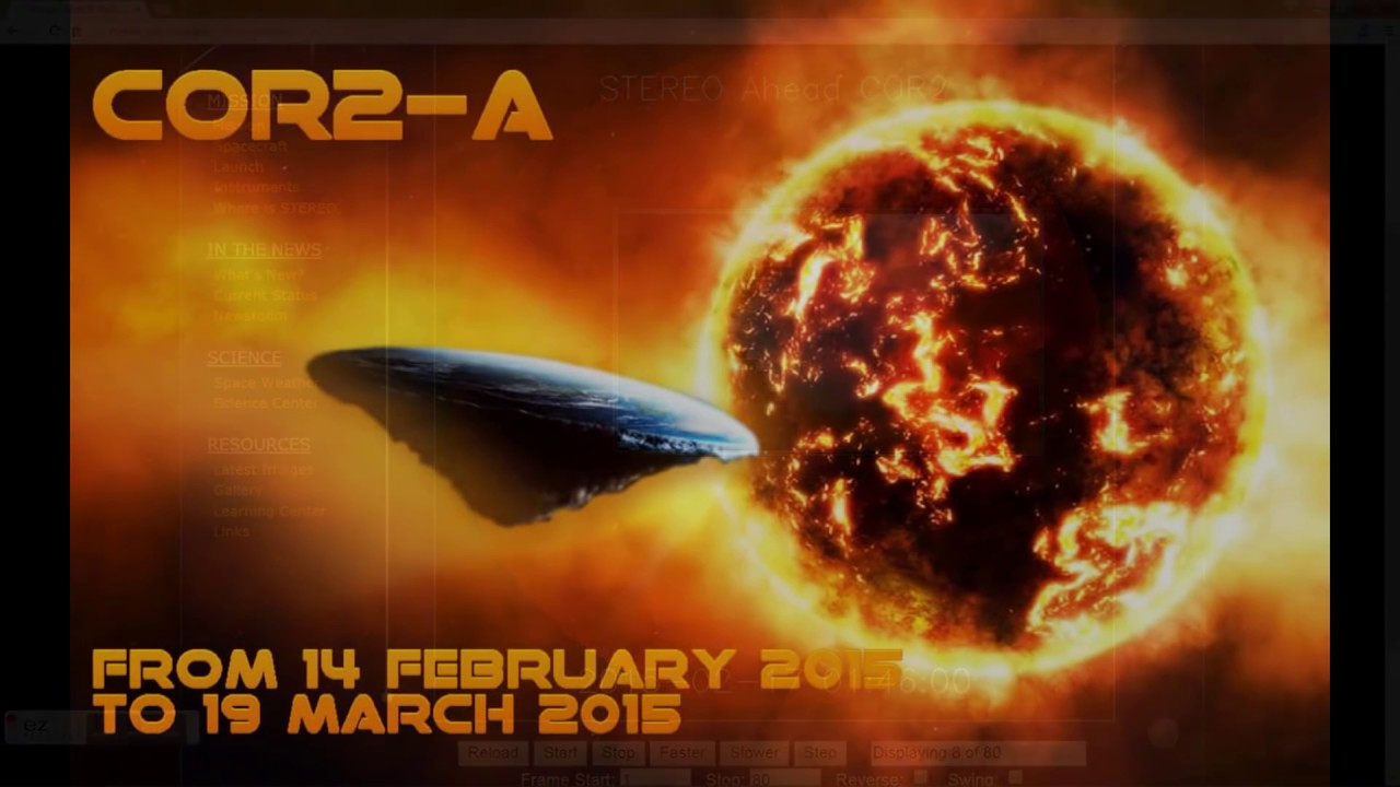 The Domed Flat Earth near the Sun/Firewall - Cor2-A from 14 February to 19 March 2015