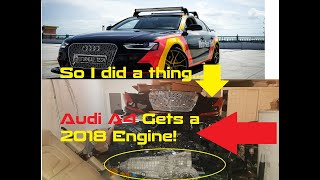 I purchased a 2018 Audi A4 B9 engine to install on my 2013 A4 B8.5 after timing chain tension failed