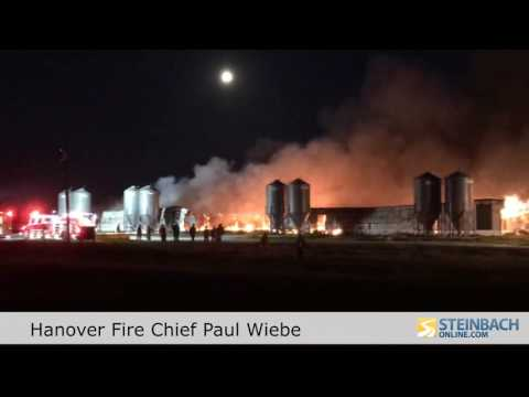 Two Hog Barns Burn Southwest Of New Bothwell