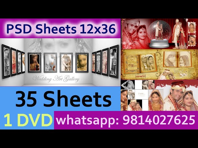 DVD 3 , PSD Sheets  12x36 For Krizma Album ( 35 Sheets )