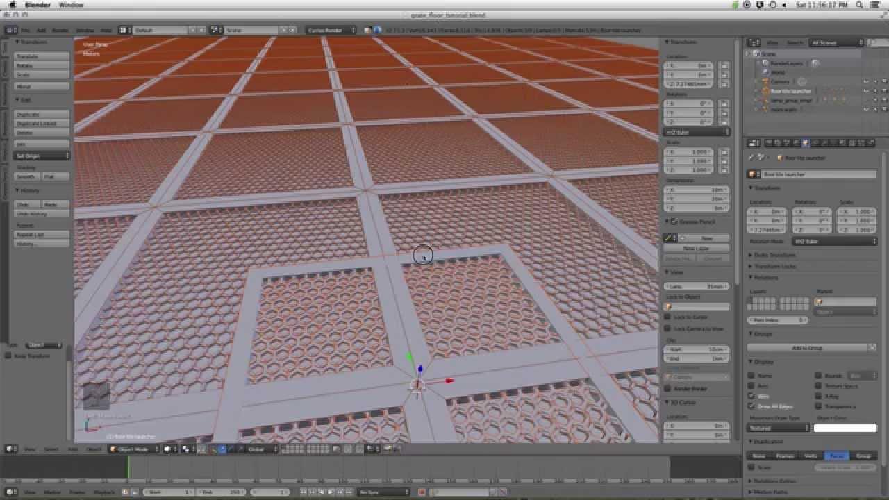 Blender Tutorial Making A Metal Grate Floor Youtube