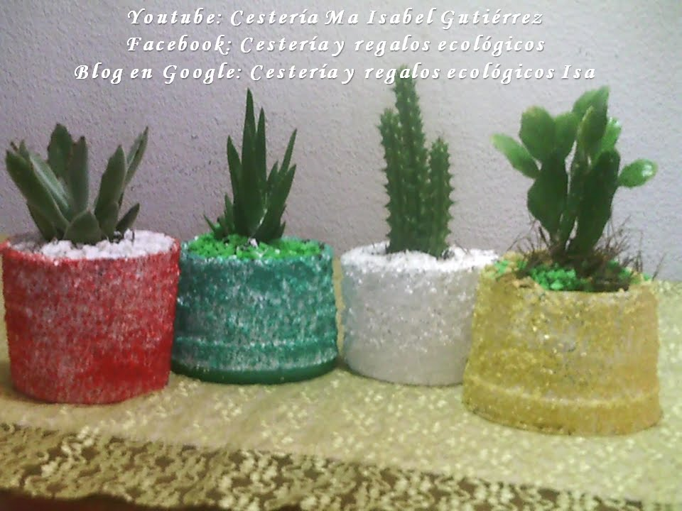 Como Hacer Macetas Con Potes De Plastico Diy How To Make Pots With