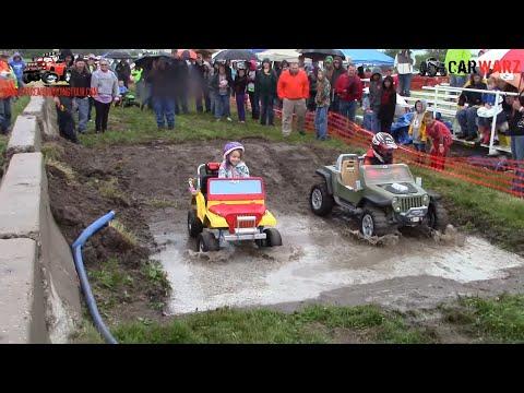 Power Wheels Mud Bog Off-Road Racing Fun At Birch Run Mud Racing - Ride On Cars