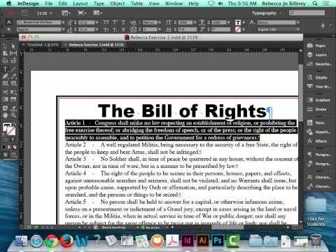 Exercise 1 The Bill of Rights