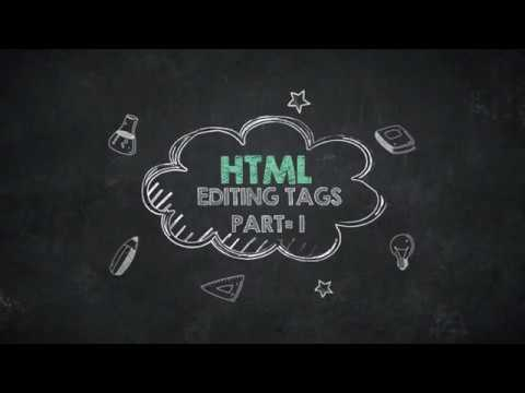 HTML EDITING TAGS PART-1/HTML TUTORIAL VIDEO thumbnail