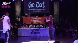 1/4 Popping ▶︎ Leïla & Celso vs Enfants sauvages ◀︎ Juste Debout Suisse 2017