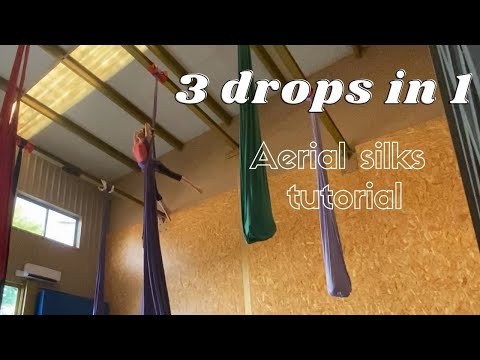 Aerial silks 3 drops in 1 | 3 caídas en 1 telas aéreas
