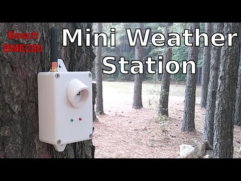 Weather Station With Bosch BME280 Sensor - ESP32/8266 Project 12