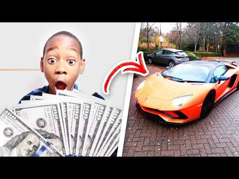 I Gave My Little Brother $1,000 To Spend In 24 Hours! (He Got A Lamborghini)