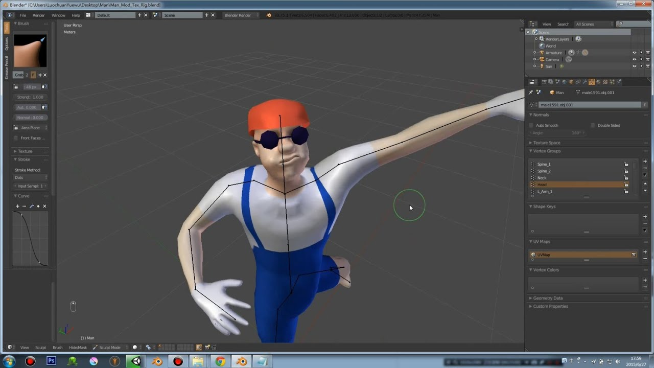 Blender Character Modeling Unity : Creating basic model game character creation with unity