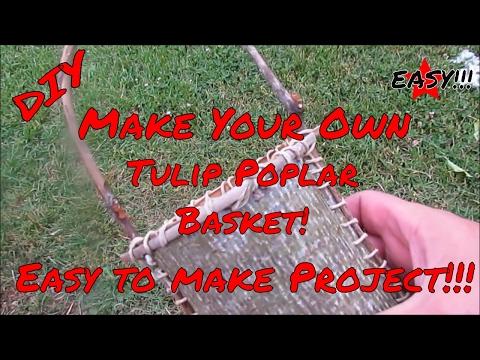 Tulip Poplar Bark Basket