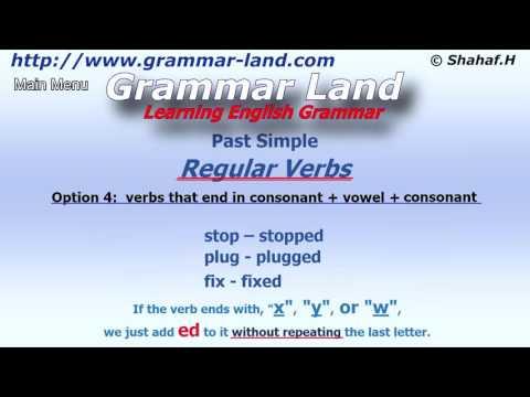 learning-english-grammar:-past-simple-tense---regular-verbs