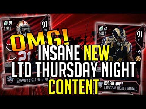 Madden 18 Ultimate Team :: NEW INSANE LTD THURSDAY NIGHT CONTENT! :: Madden 18 Ultimate Team