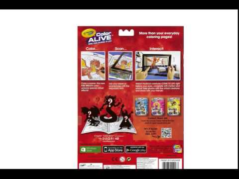 crayola color alive action coloring pages combo set skylanders and
