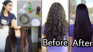 Permanent Hair Straightening at Home | Only Natural Ingredients | Super Style tips