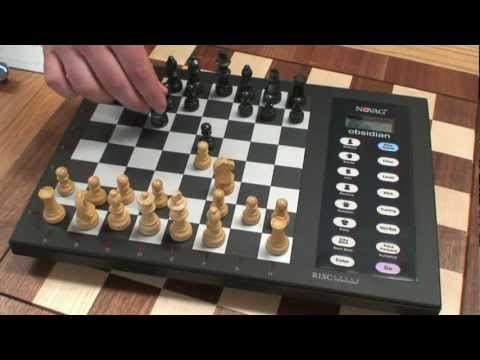 How to Use Electronic Chess Set: Novag Obsidian