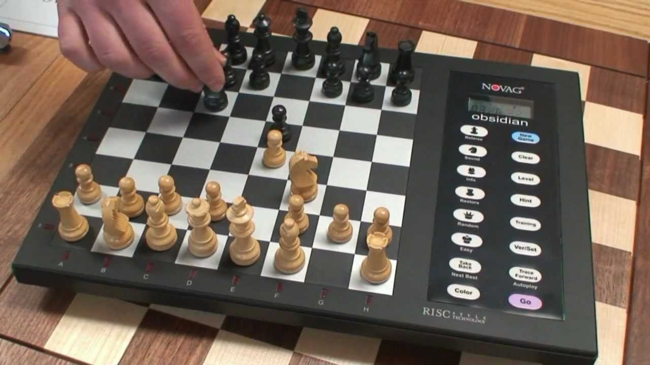 How To Use Electronic Chess Set: Novag Obsidian   YouTube