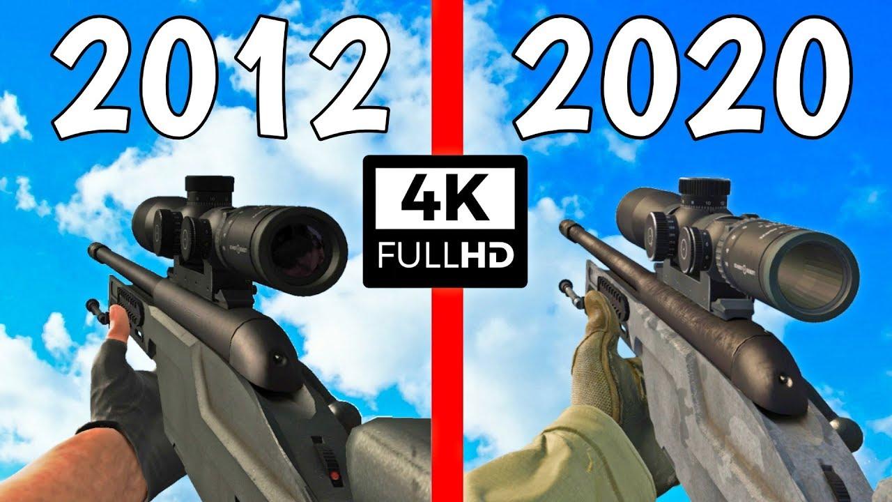 CS:GO - 2012 vs. 2020 - Weapons Comparison 4K 60FPS thumbnail
