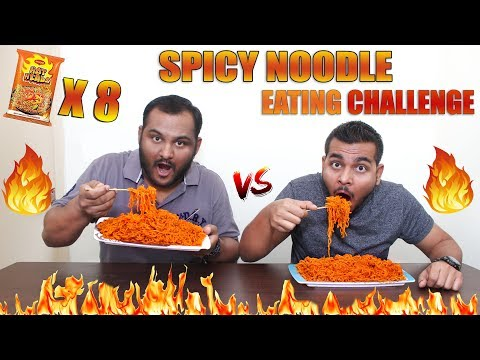 EXTREME SPICY NOODLE EATING COMPETITION | Hot Head Maggi Eating Challenge | Food Challenge